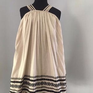 Free People Sundress, tan with black.